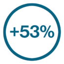 53 percent icon