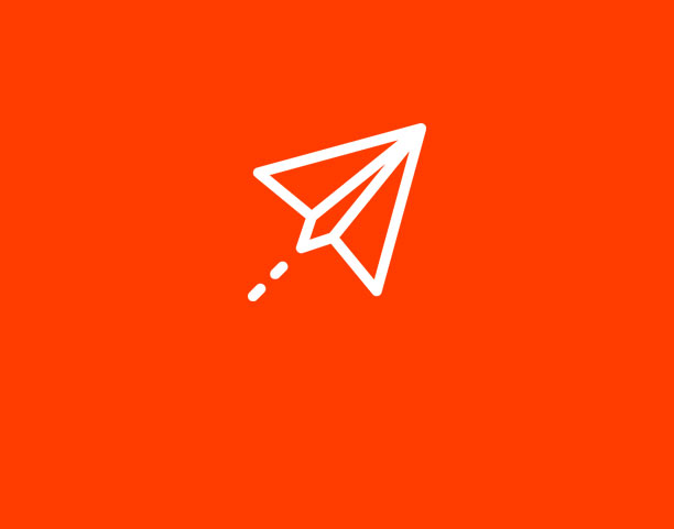 paper plane on red background
