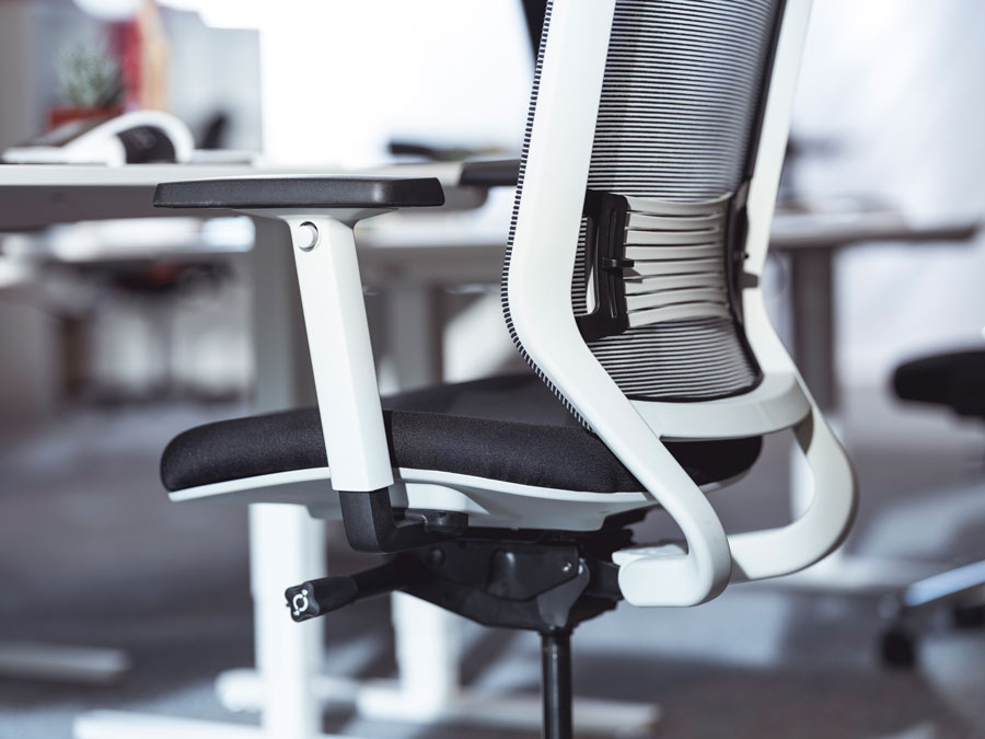 Get an ergonomic office chair for better health and less back pain at work-
