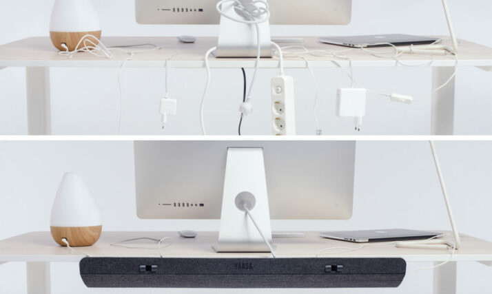 Tidy up your desk with the Yaasa Cable Management.