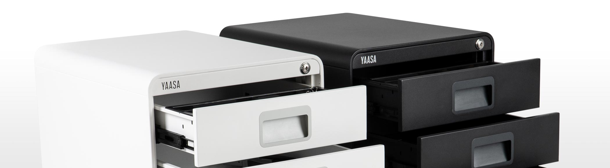 The file cabinet by Yaasa keeps your workplace organized and tidy.