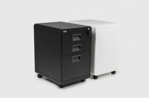 The Yaasa File Cabinet provides enough storage space for